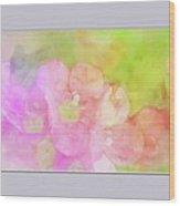 Missouri Wildflowers 5  - Polemonium Reptans -  Digital Paint 8 Wood Print