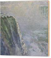 Mist At Horseshoe Falls  Wood Print