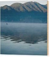 Mist On Lake Atitlan Guatemala Wood Print