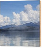 Mist Over Priest Lake Wood Print