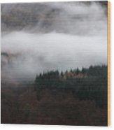 Mist Rolling Down Wood Print