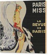 Mistanguette At The Casino De Paris Wood Print
