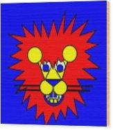 Mister Lion Wood Print