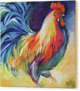Mister Show  Rooster Art Wood Print