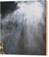 Mistic Falls Wood Print