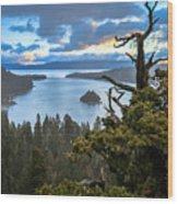 Mistic Tahoe Sunrise Wood Print