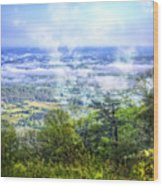 Mists In The Valley Wood Print