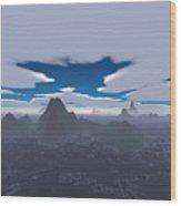 Misty Archipelago Wood Print