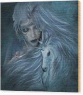 Misty Blue Wood Print