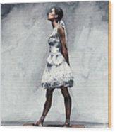 Misty Copeland Ballerina As The Little Dancer Wood Print
