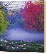 Misty Creek Wood Print