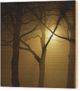 Misty Cross Wood Print
