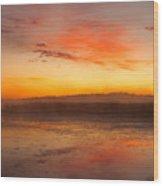 Misty Dawn#1 Wood Print