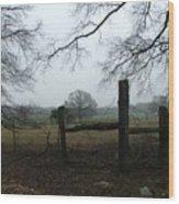 Misty Day - Photo Wood Print