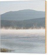 misty lake RIV M 30 Wood Print