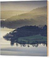 Misty Lake Windermere Wood Print