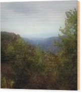 Misty Morn In The Mountains Wood Print