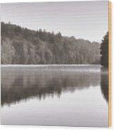 Misty Morning On Slipper Lake Wood Print