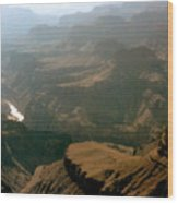 Misty Morning At The Grand Canyon  Wood Print