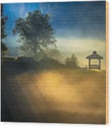 Misty Morning On The Chattahoochee Wood Print