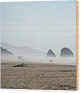Misty Morning Photograph Wood Print