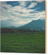 Misty Mountain Hop Wood Print