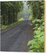 Misty Mountain Road Wood Print