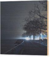 Misty Night Wood Print