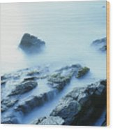 Misty Ocean Wood Print