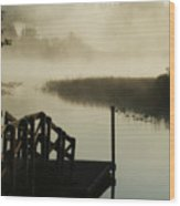 Misty Oregon Morning Wood Print