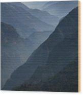 Misty Peaks Wood Print