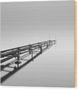 Misty Pier Loch Lomond Wood Print