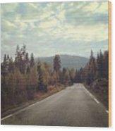 Misty Roads Wood Print