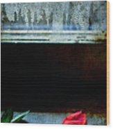 Misty Rose Wood Print