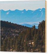 Misty Sangre View Wood Print