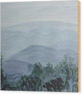 Misty Shenandoah Wood Print