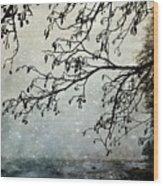 Misty Tide Wood Print
