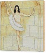 Misty Vi - La Ballet Statuette Wood Print
