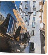 Mit Stata Center Cambridge Ma Kendall Square M.i.t. Reflection Wood Print