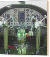 Mitchell B-25 Bomber Cockpit Wood Print by Don Struke