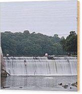 Mitchell Iowa Dam Wood Print