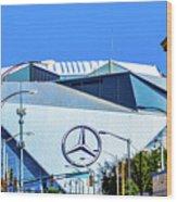 Mercedes Benz Stadium Wood Print