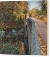 Mitford Bridge Over River Wansbeck Wood Print