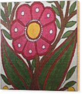 Mithila Bloom Wood Print