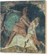 Mithras Killing The Bull - To License For Professional Use Visit Granger.com Wood Print