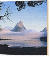 Mitre Peak Wood Print