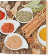 Mix  Of Spices Wood Print