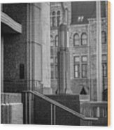 Mixed Architecture Wood Print