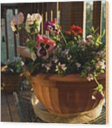 Mixed Basket, Balcony Garden, Hunter Hill, Hagerstown, Maryland, Wood Print