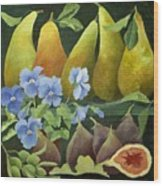 Mixed Fruit Wood Print